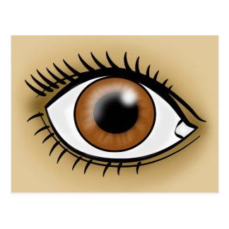 Icono del ojo de Brown Postales