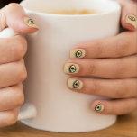 Icono del ojo pardo arte para uñas