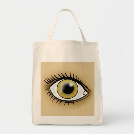 Icono del ojo pardo bolsas