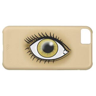 Icono del ojo pardo carcasa iPhone 5C