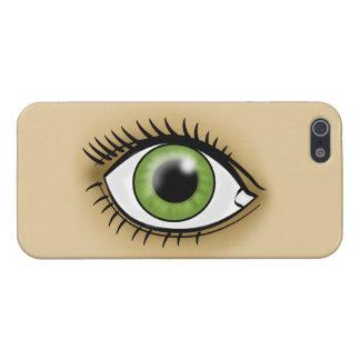 Icono del ojo verde iPhone 5 fundas
