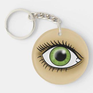 Icono del ojo verde llavero