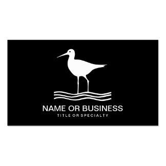icono del pájaro tarjetas de visita