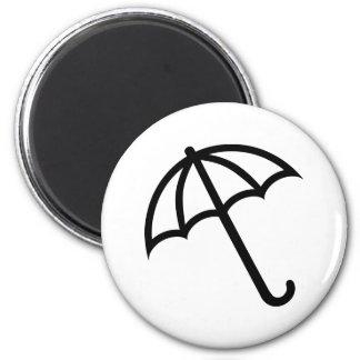Icono del paraguas imán redondo 5 cm