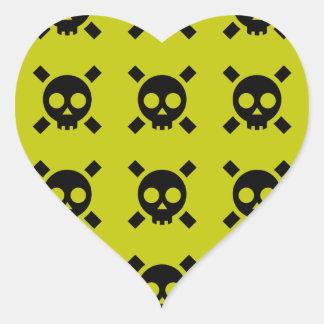 icono del peligro pegatina en forma de corazón
