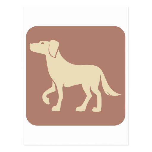 Icono del perro de Brown que camina Postal