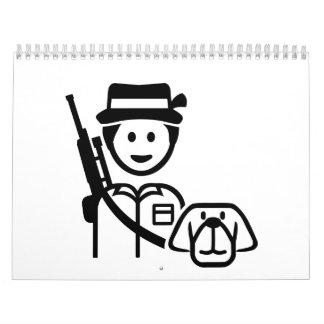 Icono del perro del cazador calendarios