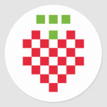 icono del pixel de la fresa pegatinas redondas