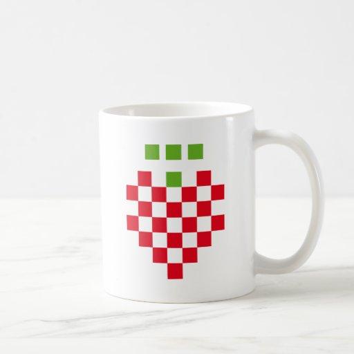 icono del pixel de la fresa tazas