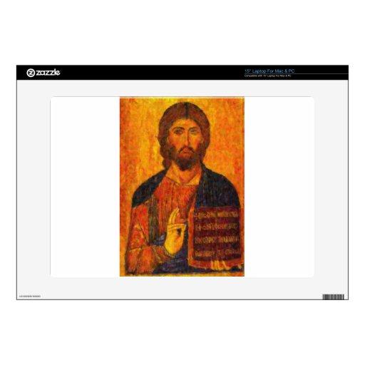 icono del pointillism del salvador calcomanías para 38,1cm portátiles