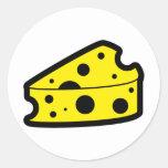 Icono del queso etiquetas redondas