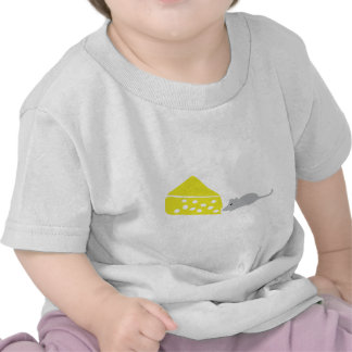 icono del ratón y del queso camisetas