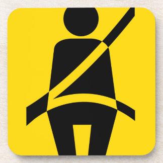 Icono del recordatorio del cinturón de seguridad posavasos de bebida