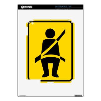 Icono del recordatorio del cinturón de seguridad skins para iPad 2