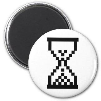 Icono del reloj de arena imán redondo 5 cm