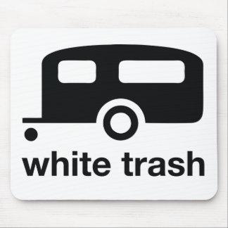 Icono del remolque de la basura blanca - parque de alfombrillas de ratones