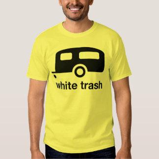 Icono del remolque de la basura blanca - parque de camisas