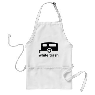 Icono del remolque de la basura blanca - parque de delantal