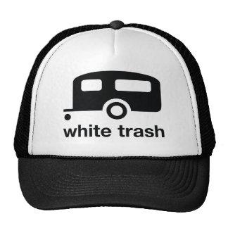 Icono del remolque de la basura blanca - parque de gorro de camionero