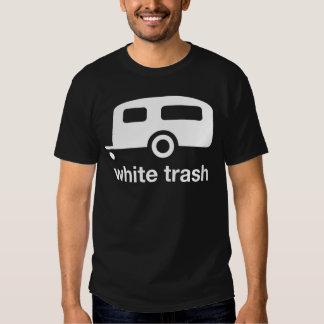 Icono del remolque de la basura blanca - parque de poleras