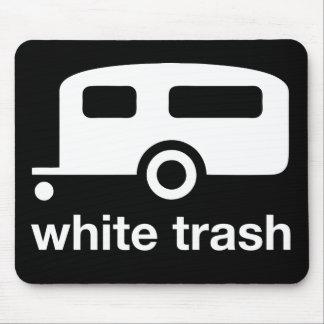 Icono del remolque de la basura blanca - parque de tapete de raton