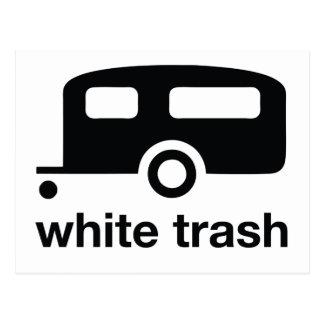 Icono del remolque de la basura blanca - parque de tarjetas postales