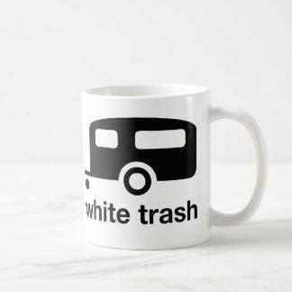 Icono del remolque de la basura blanca - parque de taza