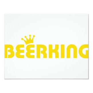 """icono del rey de la cerveza invitación 4.25"""" x 5.5"""""""