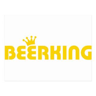 icono del rey de la cerveza tarjeta postal