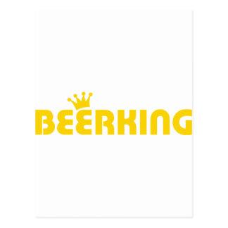 icono del rey de la cerveza tarjetas postales