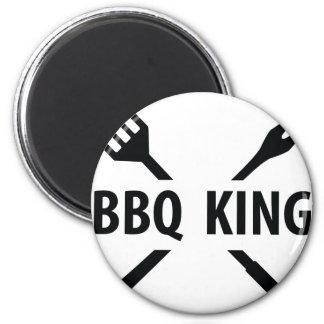 Icono del rey del Bbq Imán Redondo 5 Cm