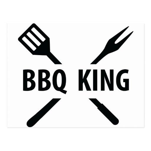 Icono del rey del Bbq Postales