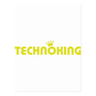 icono del rey del techno tarjeta postal