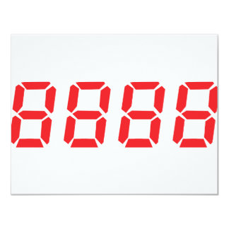 """icono del rojo 8888 invitación 4.25"""" x 5.5"""""""