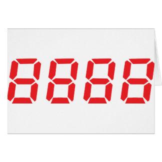 icono del rojo 8888 tarjeta de felicitación