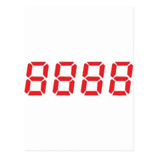 icono del rojo 8888 postal