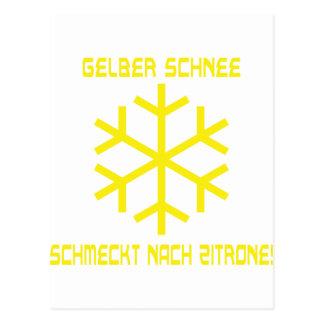 icono del schnee tarjetas postales