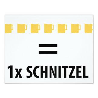 """Icono del Schnitzel del ein del sind de 7 féretros Invitación 4.25"""" X 5.5"""""""