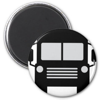 icono del schoolbus imán redondo 5 cm
