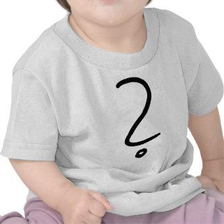 icono del signo de interrogación camisetas
