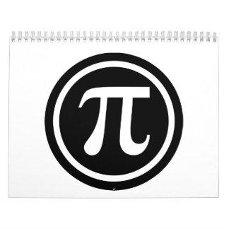 Icono del símbolo del pi calendario