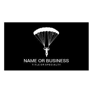 icono del skydiver tarjetas de visita