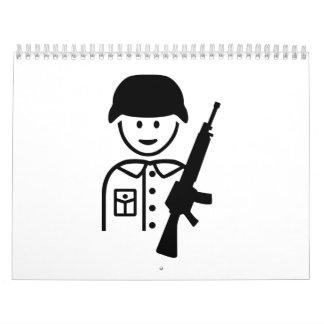 Icono del soldado calendarios