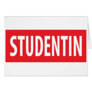 icono del studentin tarjeta de felicitación