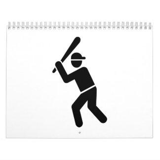 Icono del talud del béisbol calendarios de pared