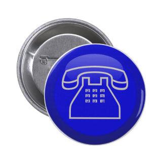 Icono del teléfono Info Pin Redondo De 2 Pulgadas