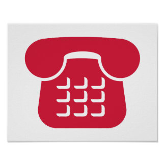 Icono del teléfono poster