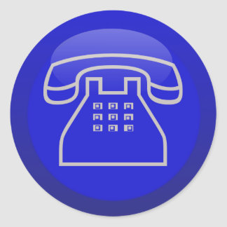 Icono del teléfono pegatina redonda