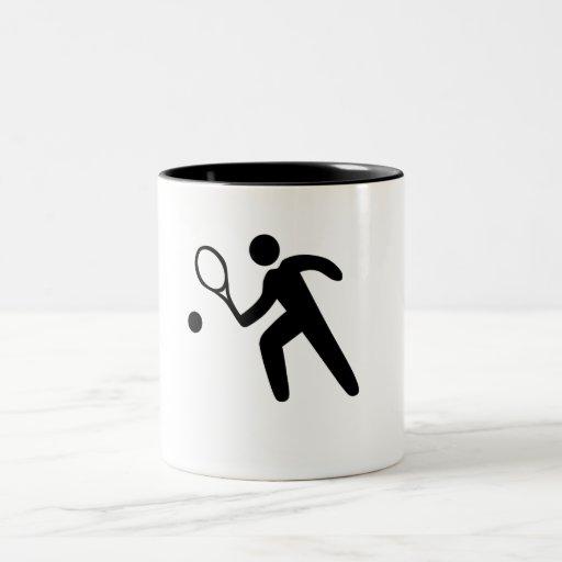 Icono del tenis tazas