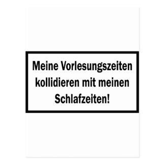 Icono del texto de Studenten Vorlesungszeiten Postales